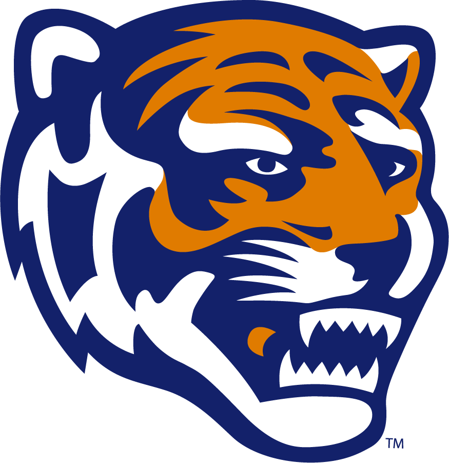 Memphis Tigers Logo Secondary Logo (1993-2021) - Tiger head in orange and blue. SportsLogos.Net
