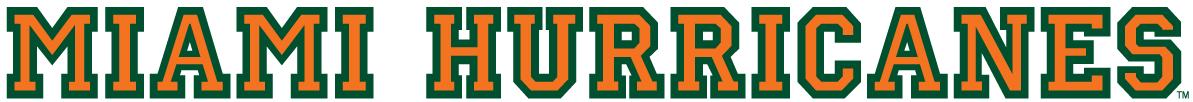 Miami Hurricanes Logo Wordmark Logo (1940-1971) -  SportsLogos.Net