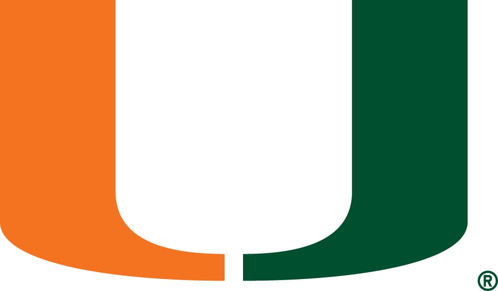Miami Hurricanes Logo Primary Logo (1972-Pres) - Green and Orange U SportsLogos.Net