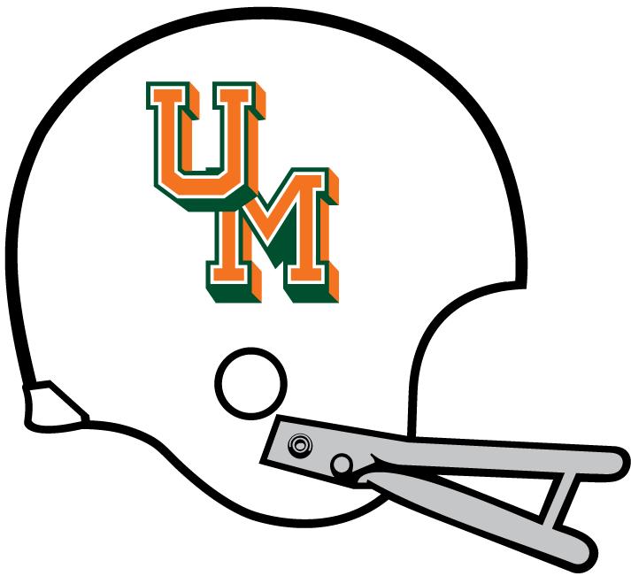 Miami Hurricanes Helmet Helmet (1970) -  SportsLogos.Net