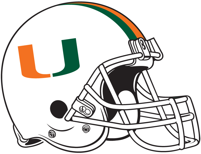 Miami Hurricanes Helmet Helmet (1984-Pres) -  SportsLogos.Net