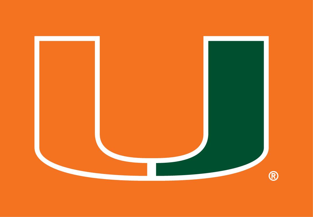 Miami Hurricanes Logo Primary Dark Logo (1972-Pres) -  SportsLogos.Net