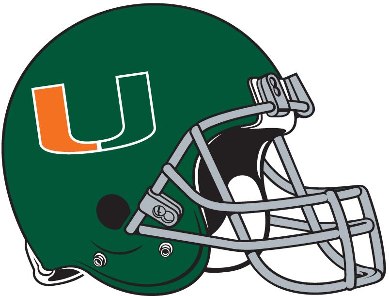 Miami Hurricanes Helmet Helmet (1972-1975) -  SportsLogos.Net