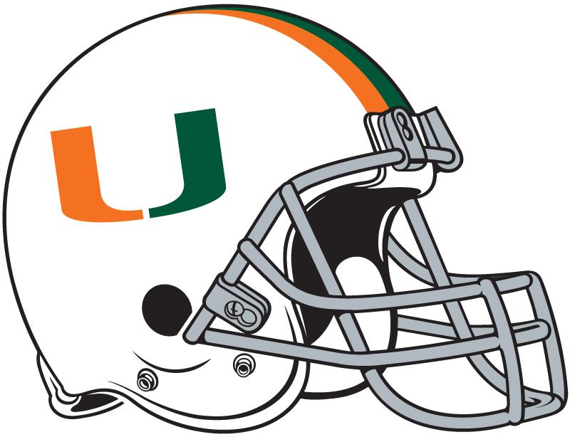 Miami Hurricanes Helmet Helmet (1977) -  SportsLogos.Net