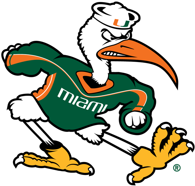 Miami Hurricanes Mascot Logo Ncaa Division I I M Ncaa