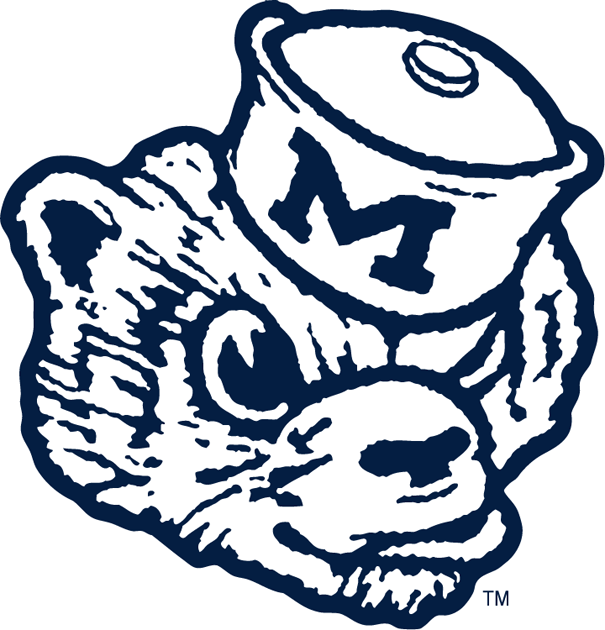 Michigan Wolverines Logo Primary Logo (1948-1963) -  SportsLogos.Net