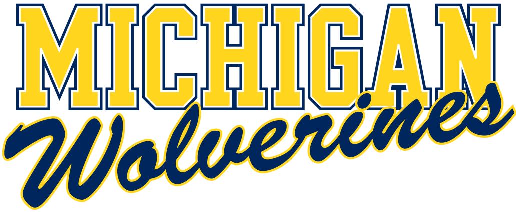 Michigan Wolverines Logo Wordmark Logo (1996-Pres) -  SportsLogos.Net