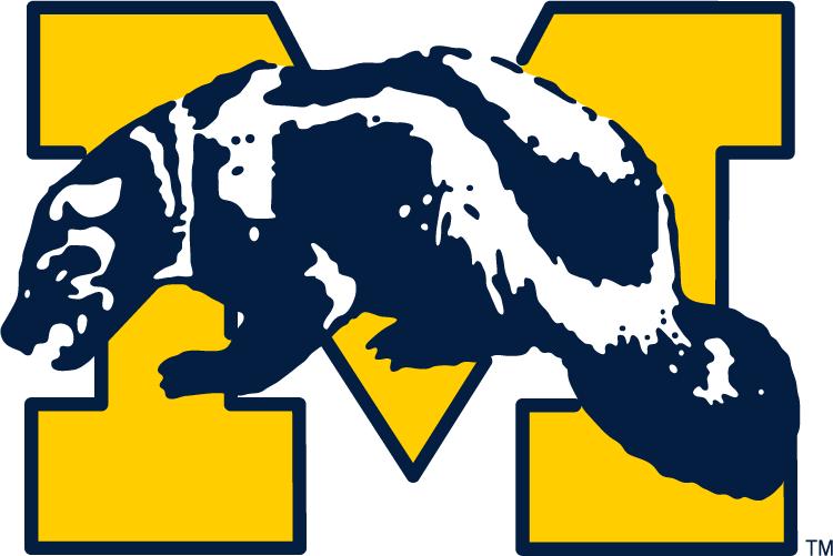 Michigan Wolverines Logo Primary Logo (1964-1978) -  SportsLogos.Net