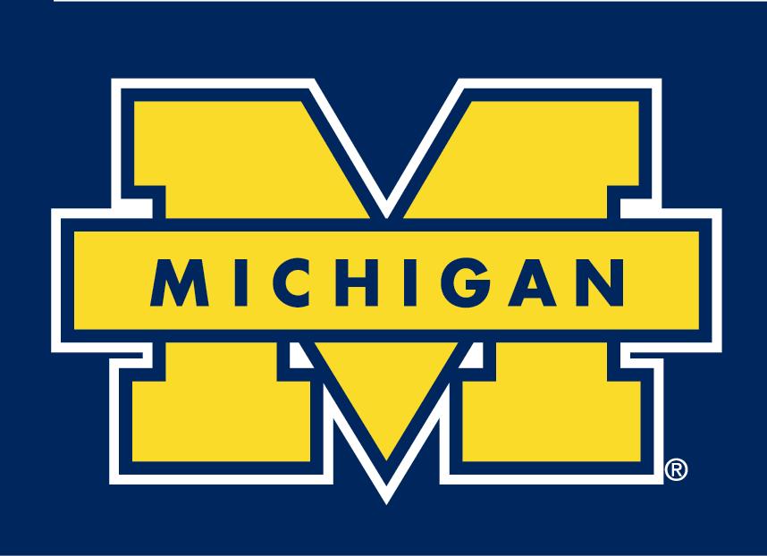 michigan wolverines secondary logo ncaa division i  i m football team logo clipart football team clip art images