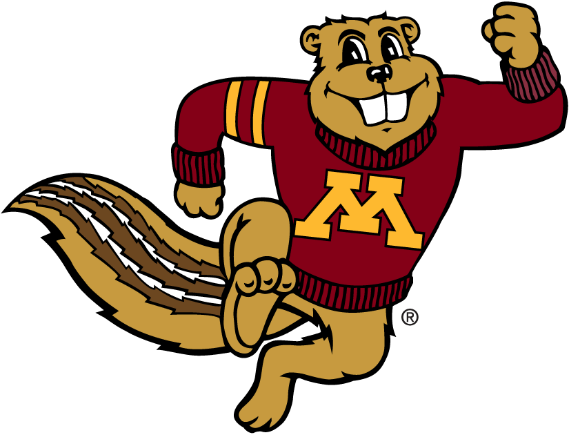 Minnesota Golden Gophers Logo Mascot Logo (1986-Pres) - Golden Gophers mascot - Goldy Gopher SportsLogos.Net