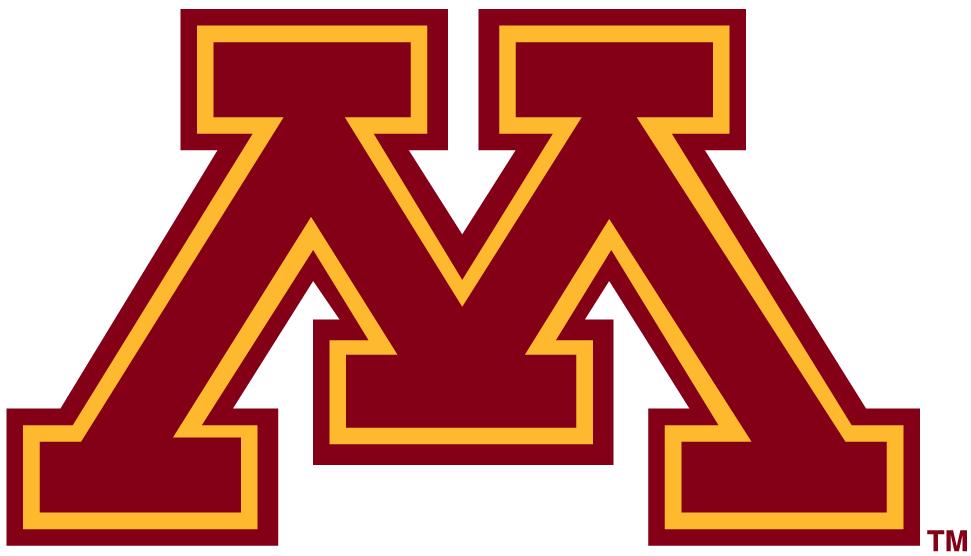 Minnesota Golden Gophers Logo Primary Logo (1986-Pres) - Yellow M with maroon outline SportsLogos.Net