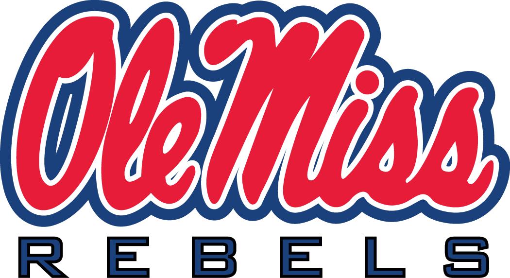 Mississippi Rebels Logo Alternate Logo (2002-2011) - Horizontal Script Ole Miss above REBELS SportsLogos.Net
