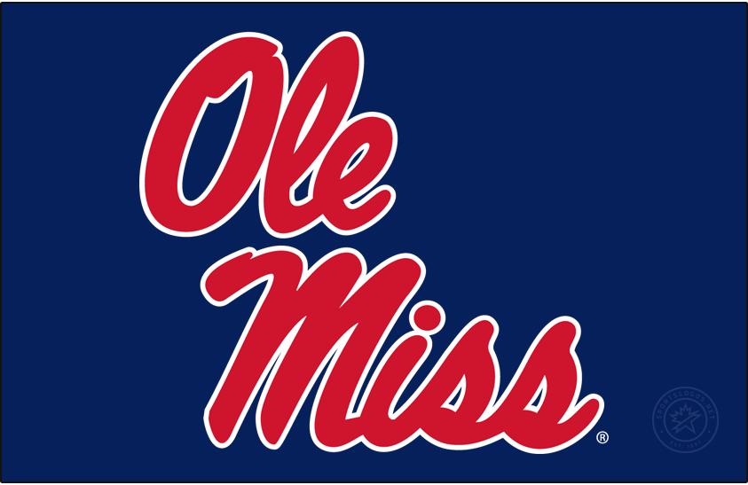 Mississippi Rebels Logo Alt on Dark Logo (2011-2020) - Stacked Script Ole Miss. SportsLogos.Net