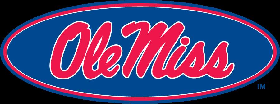 Mississippi Rebels Logo Alternate Logo (2002-2007) - Horizontal Script Ole Miss in oval, introduced in 2002 as an Alternate. SportsLogos.Net