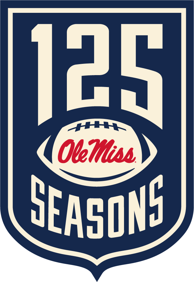 Mississippi Rebels Logo Event Logo (2019) - 125 Football Seasons logo SportsLogos.Net