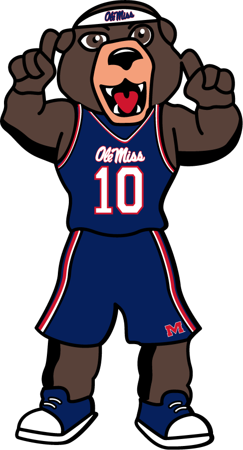 Mississippi Rebels Logo Mascot Logo (2010-2018) - Rebel Black Bear mascot in Gameday Attire adopted in 2010 replacing the Colonel Reb mascot. SportsLogos.Net