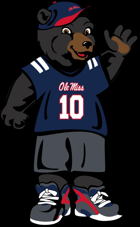 Mississippi Rebels Logo Mascot Logo (2011-Pres) - Youth Rebel Black Bear SportsLogos.Net
