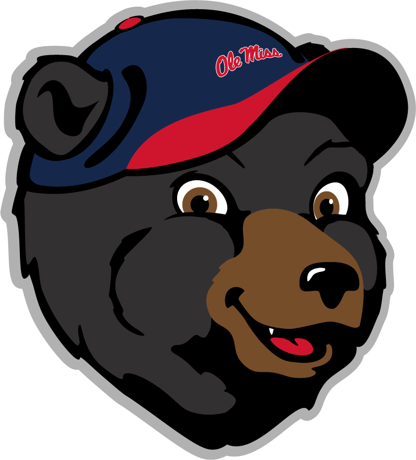 Mississippi Rebels Logo Mascot Logo (2011-Pres) - Youth Rebel Black Bear head SportsLogos.Net