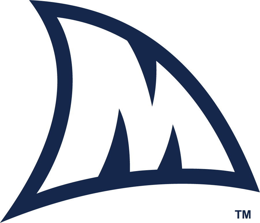 Mississippi Rebels Logo Misc Logo (2018-Pres) - Shark fin featuring M. The spirit of the Landshark dates back to 2008, when Ole Miss won the Cotton Bowl after four straight losing seasons. In a moment of celebration that season, senior linebacker and Iraq War veteran Tony Fein made the legendary 'Fins Up' gesture after a game-changing play.  SportsLogos.Net