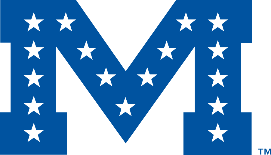 Mississippi Rebels Logo Secondary Logo (1983-2002) - Block M in blue with 17 stars. Year of first use may be different. SportsLogos.Net