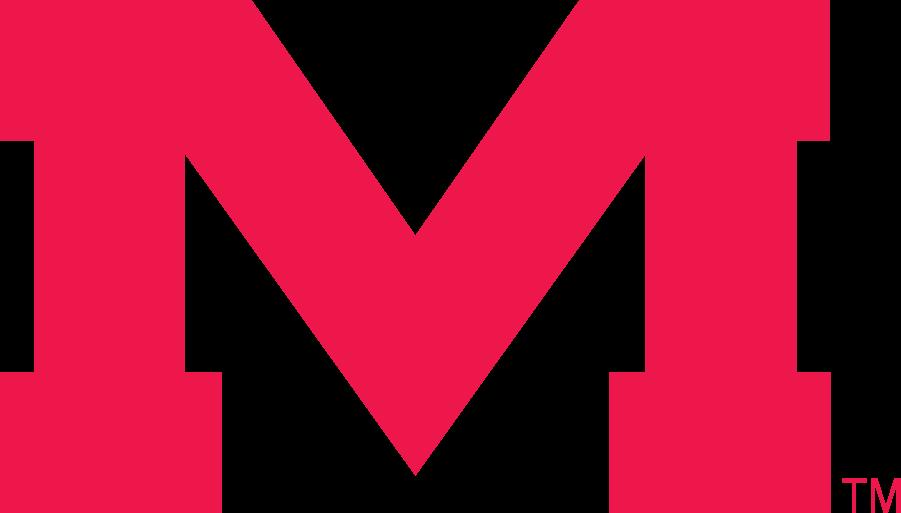 Mississippi Rebels Logo Secondary Logo (2002-2007) - Wide Block M in red. SportsLogos.Net