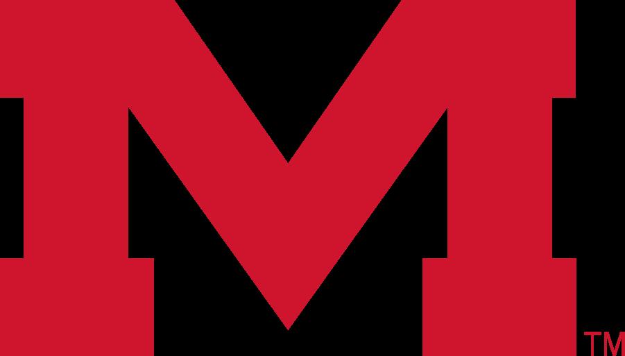 Mississippi Rebels Logo Secondary Logo (2007-2020) - Block M in new red. SportsLogos.Net