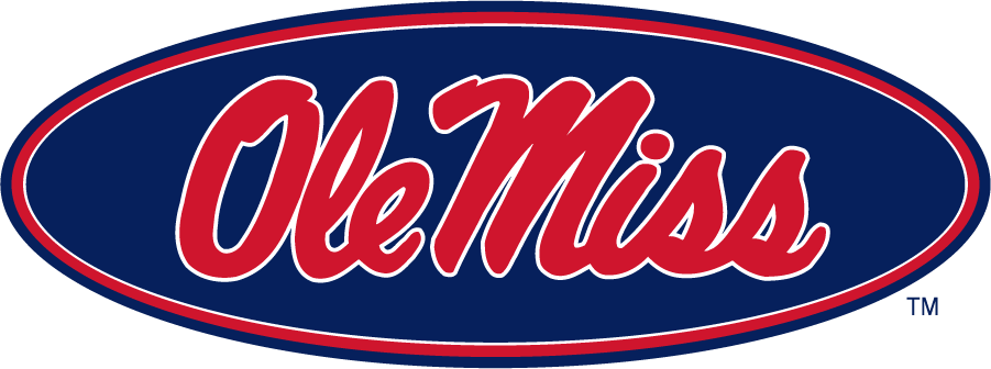 Mississippi Rebels Logo Secondary Logo (2011-2020) - Horizontal Script Ole Miss in Oval. Was the Primary in 2002, Alternate in 2007, and now a Secondary in 2011. SportsLogos.Net