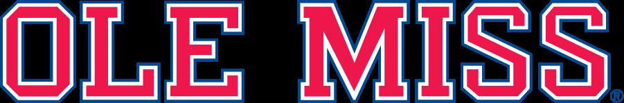 Mississippi Rebels Logo Wordmark Logo (2002-2007) - Block Ole Miss wordmark in new shade of blue. SportsLogos.Net