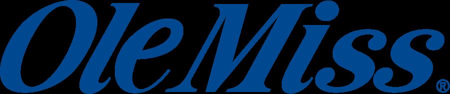 Mississippi Rebels Logo Wordmark Logo (2002-2007) - Ole Miss wordmark in new shade of blue. SportsLogos.Net