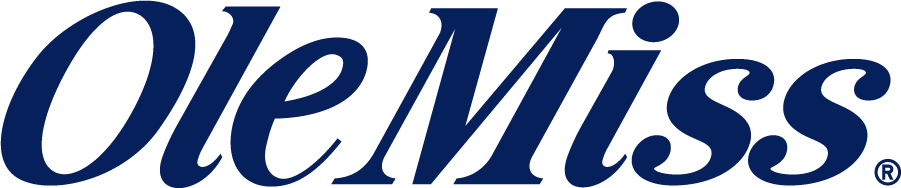 Mississippi Rebels Logo Wordmark Logo (2007-2011) - Ole Miss wordmark in new shade of blue. Discontinued by 2011 after 25 years. SportsLogos.Net