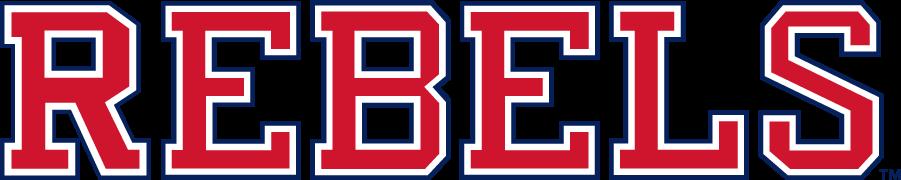 Mississippi Rebels Logo Wordmark Logo (2011-2020) - Block REBELS wordmark matching the block Ole Miss. SportsLogos.Net