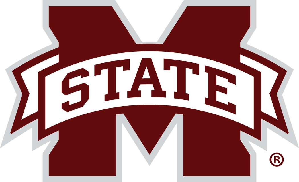 Mississippi State Bulldogs Logo Primary Logo (2009-Pres) - Maroon block M with a white banner across the middle with 'STATE' on it. M-State logo version 1 SportsLogos.Net