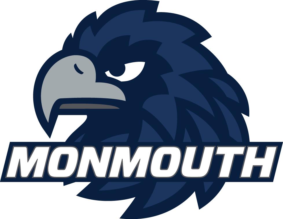 Monmouth Hawks Logo Primary Logo (2014-Pres) -  SportsLogos.Net