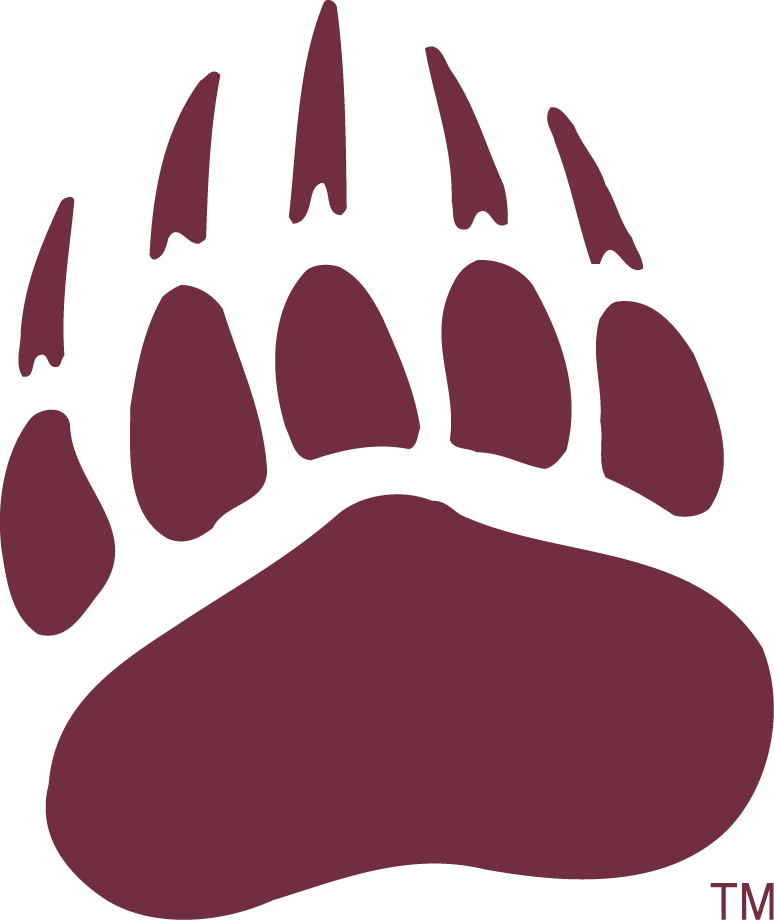 Montana Grizzlies Logo Secondary Logo (1996-Pres) - Grizzly paw in red. SportsLogos.Net