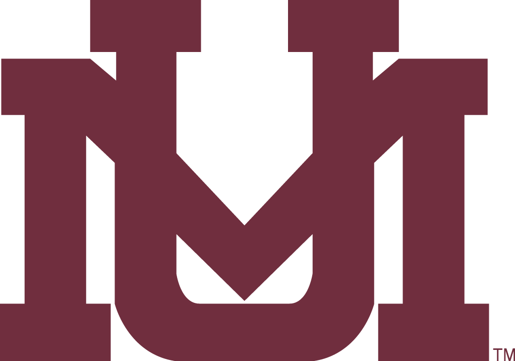 Montana Grizzlies Logo Secondary Logo (1996-Pres) - Interlocking UM in red.   SportsLogos.Net