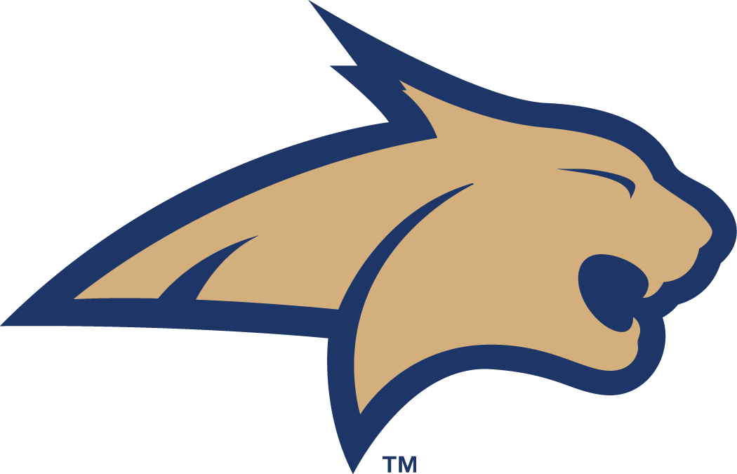 Montana State Bobcats Logo Primary Logo (2004-2012) - A blue bobcat head SportsLogos.Net