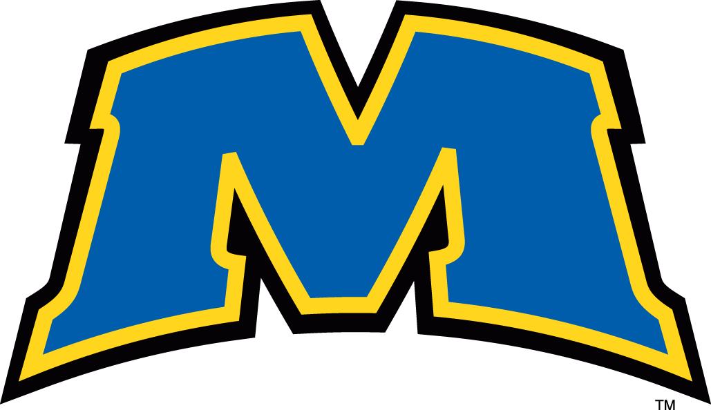 Morehead State Eagles Logo Alternate Logo (2005-Pres) - Blue M with yellow outline SportsLogos.Net