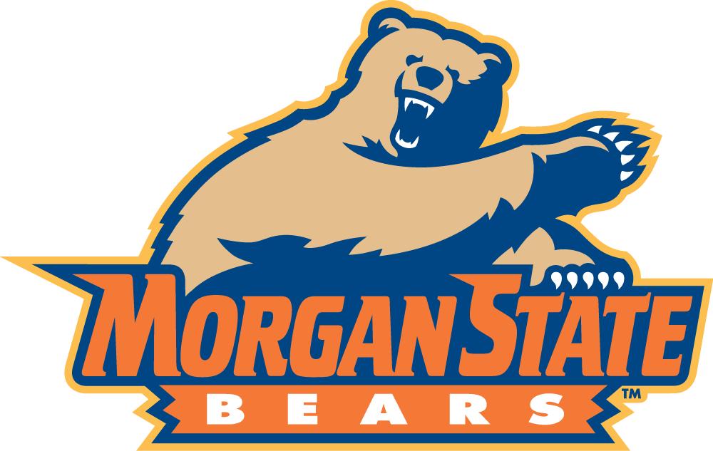 Morgan State Bears Logo Primary Logo (2002-Pres) - Bear over orange script SportsLogos.Net