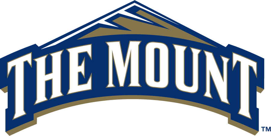 Mount St. Marys Mountaineers Logo Primary Logo (2006-2016) - In August 2016, Mount St. Mary's University unveiled its new athletics logo, a symbol of consistent color scheme that brings uniformity and identity to the Mount athletic department. The primary Mount logo features the words THE MOUNT with a mountain above the words. Secondary marks featuring the college name, the nickname of Mountaineers, and sport specific marks were also created. The official school colors remained MSMU Blue (Pantone 294C) and White, however, the accent color MSMU Gold (Pantone 871C) was added. The colors match those of the Mount's institutional logo that was introduced the previous year. SportsLogos.Net