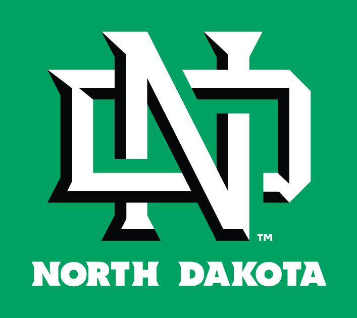 North Dakota Fighting Hawks Logo Primary Dark Logo (2012-2015) -  SportsLogos.Net
