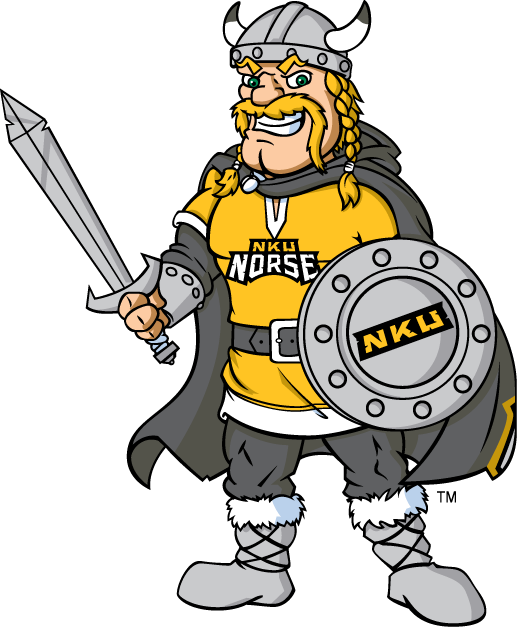 Northern Kentucky Norse Logo Mascot Logo (2005-2015) - NKU Norse mascot - Victor E. Viking SportsLogos.Net
