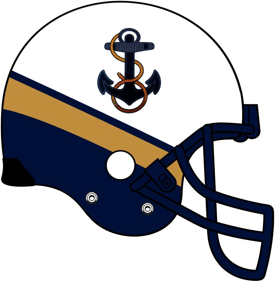 Navy Midshipmen Helmet Helmet (2012-Pres) -  SportsLogos.Net