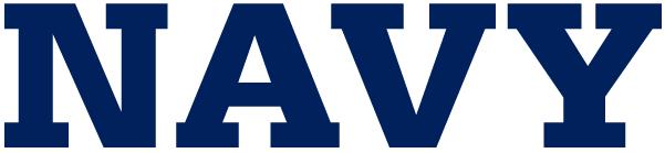Navy Midshipmen Logo Wordmark Logo (1942-Pres) -  SportsLogos.Net