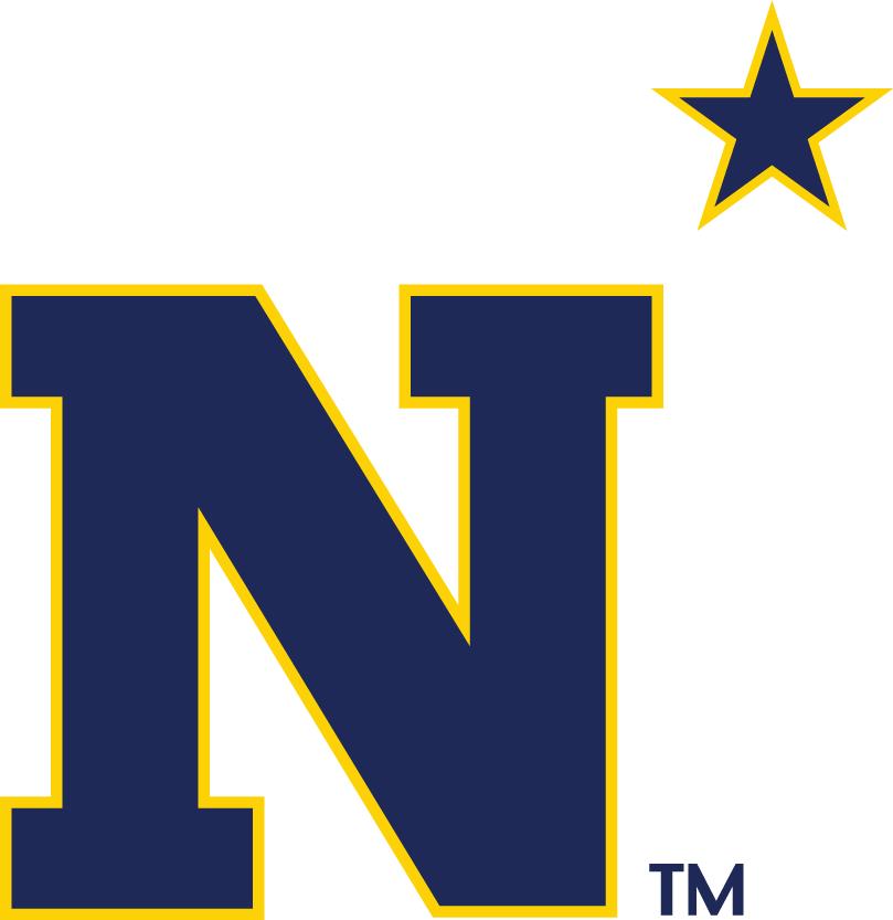 Navy Midshipmen Logo Alternate Logo (1984-Pres) - Blue N with gold outline SportsLogos.Net