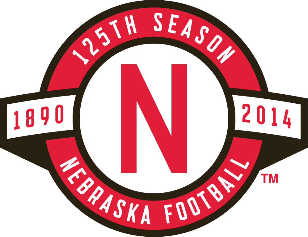 Nebraska Cornhuskers Logo Anniversary Logo (2014) - 125th Season of Nebraska Football logo SportsLogos.Net