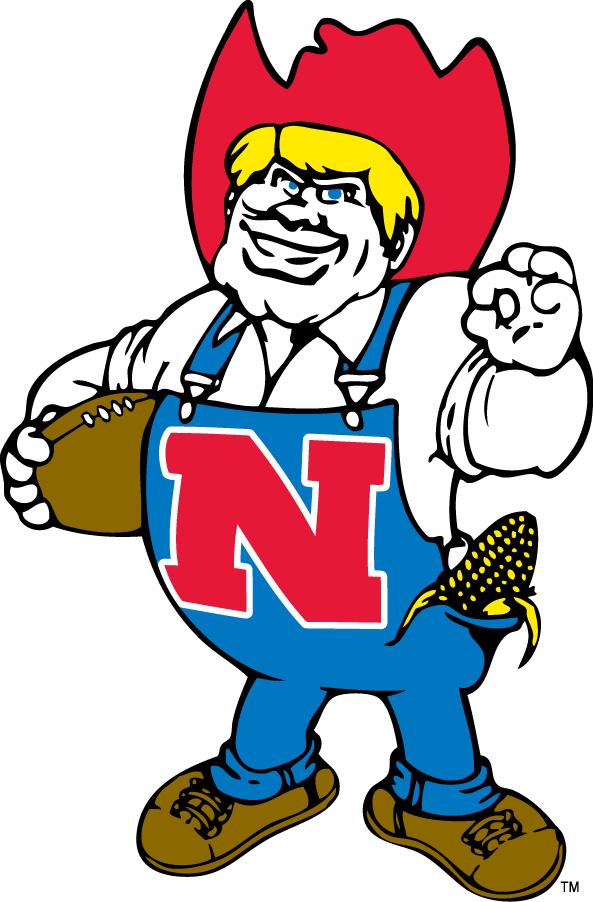 Nebraska Cornhuskers Logo Mascot Logo (1974-1991) - Cornhuskers mascot - Herbie Husker SportsLogos.Net