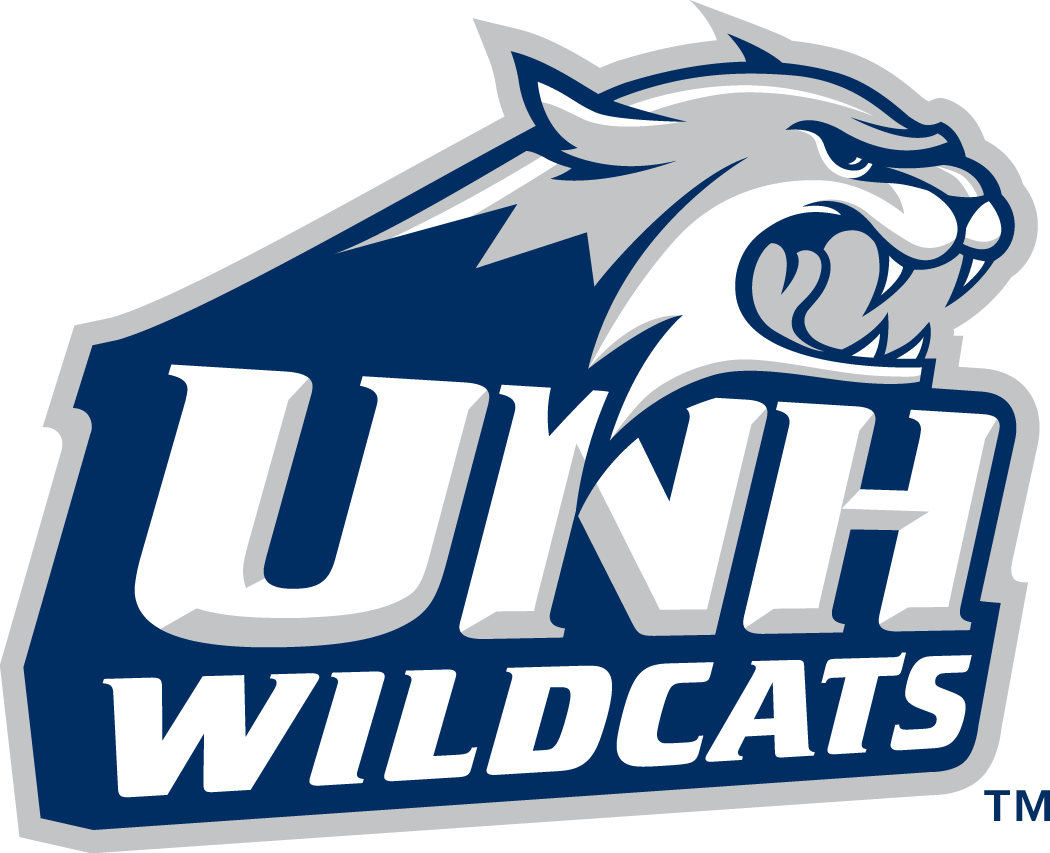 New Hampshire Wildcats Logo Primary Logo (2000-Pres) - Wildcats head coming out of script SportsLogos.Net