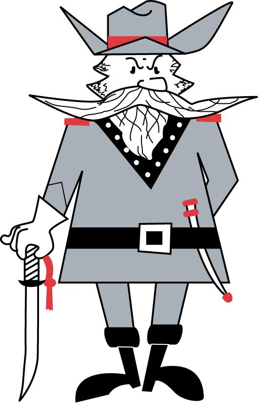 Nicholls State Colonels Logo Mascot Logo (2000-2004) - Classic Colonel Tillou mascot logo SportsLogos.Net