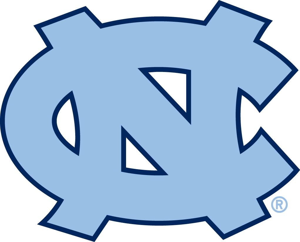 North Carolina Tar Heels Logo Primary Logo (2005-2014) - Carolina blue interlocking NC with blue outline. SportsLogos.Net