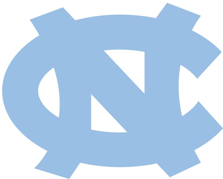 North Carolina Tar Heels Logo Alternate Logo (1999-2014) - Carolina blue interlocking NC SportsLogos.Net